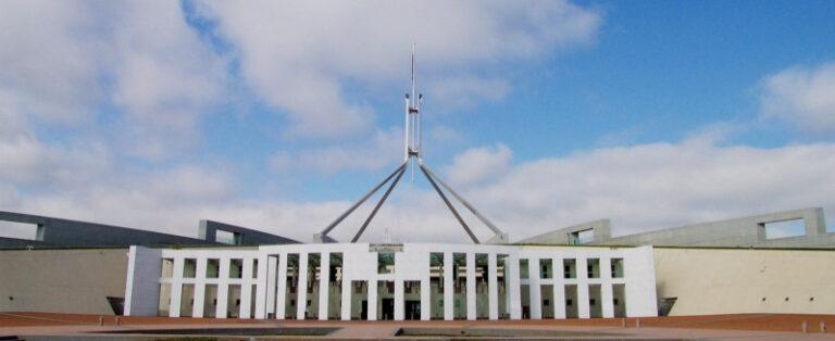 Australian Parliament House where the Federal Budget 2021-22 was announced.
